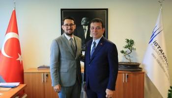 İBB Başkanı Ekrem İmamoğlu, İstanbul İmar AŞ`yi ziyaret etti